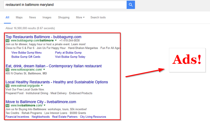 Google-is-filling-it-results-with-ads
