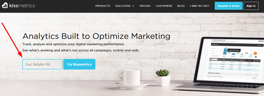kiss-metrics-home-page-conversion-goal