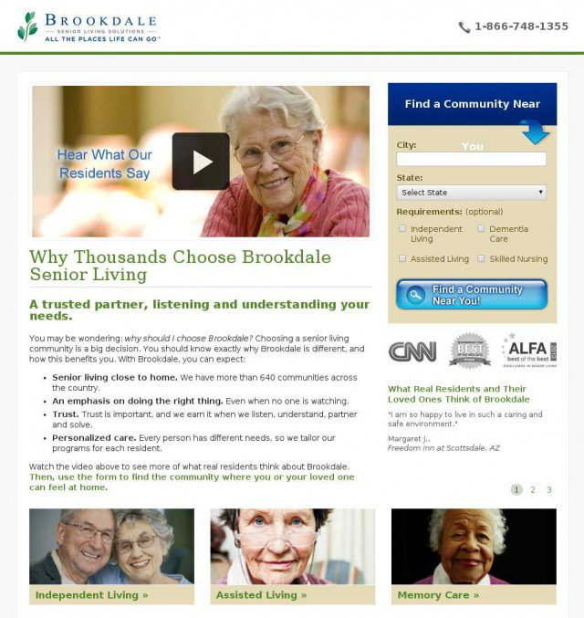 Brookdale-elderly-people-video-landing-page