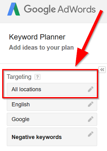 target-a-specific-place-in-Google-keyword-planner