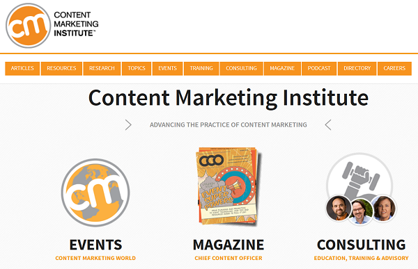 content-marketing-institute-website
