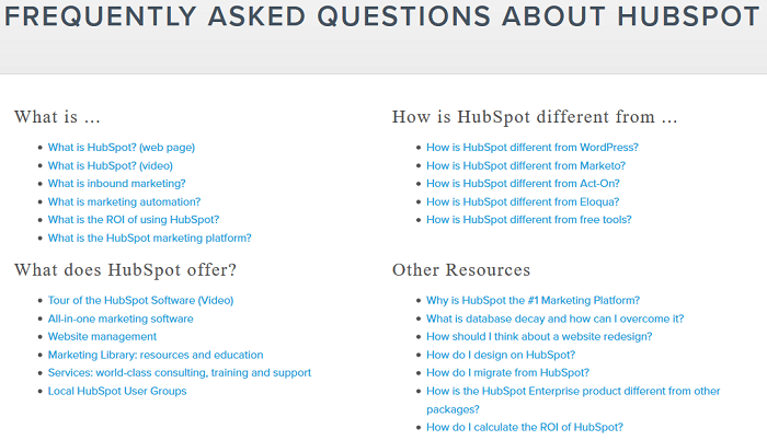 hubspot-faq-page-addresses-objections