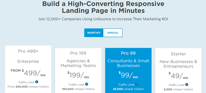 unbounce-pricing-page