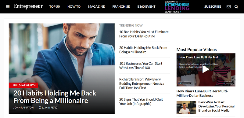 entrepreneur-homepage-at-the-moment