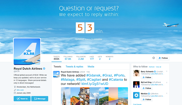 KLM-set-expectation-with-social-media
