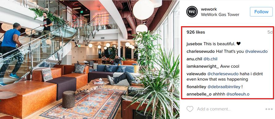 WeWork-social-media-engagement