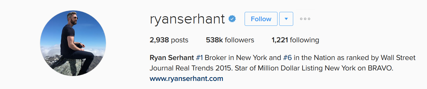Ryan-Serhant-using-Instagram-for-customer-acquisition