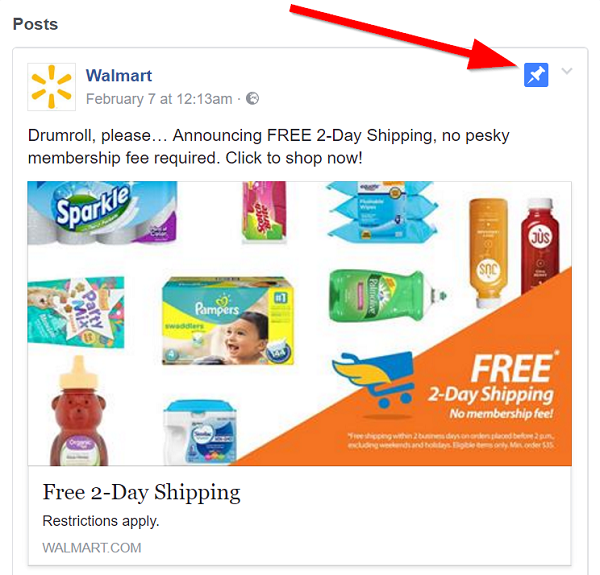 Walmart-pin-a-post-to-their-Facebook-page