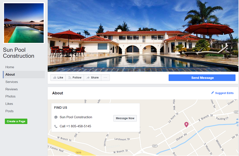 pool-building-company-based-in-California-has-a-facebook-page