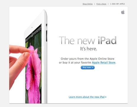 Apple product announcement email