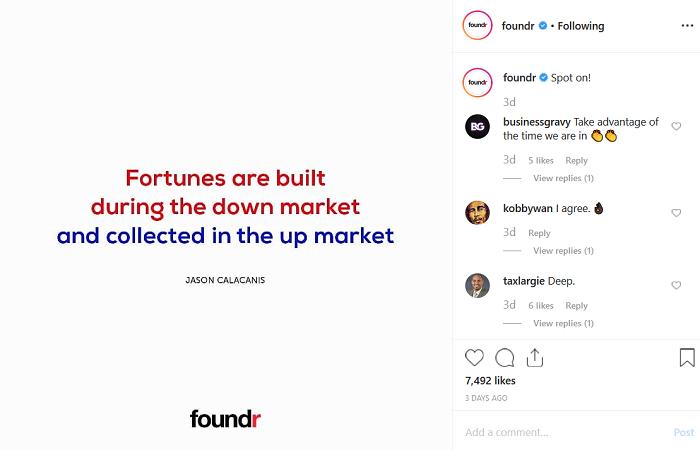 Foundr instagram account