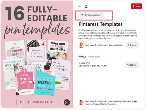 Pin your CTA to Pinterest