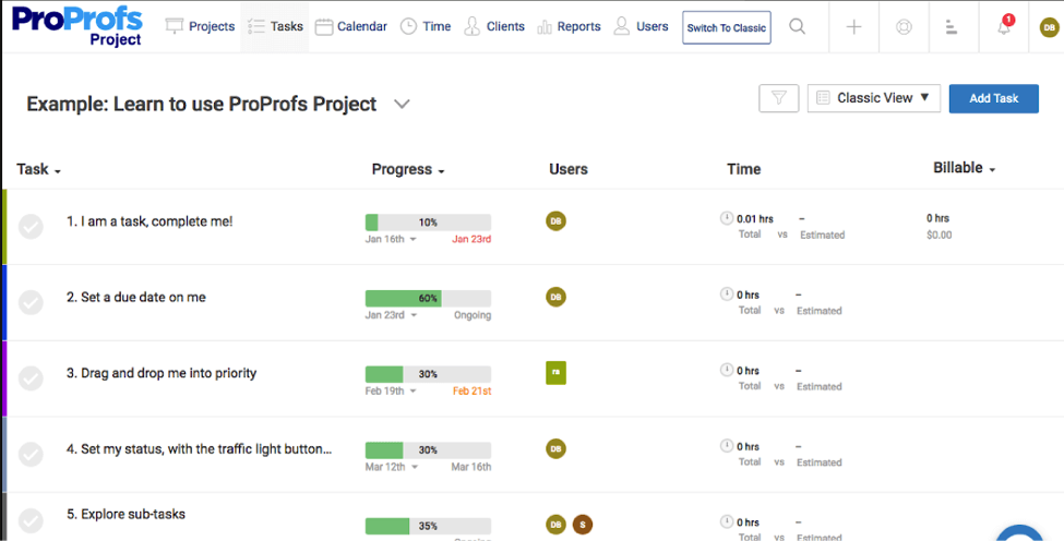 Best Task Management Tools-ProProfs