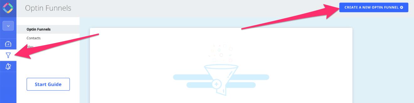 Create a new optin funnel in OmniKick